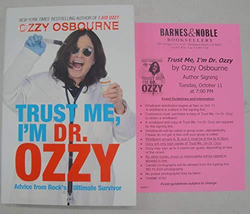 Ozzy Osbourne Signed Autographed Book Trust Me, Im Dr. Ozzy Barnes & Noble from Cardboard Legends Online