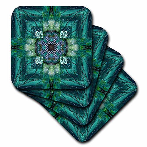 Cross Tile Coaster (3dRose cst_6726_3 Irish Earth Cross Ceramic Tile Coasters, Set of 4)