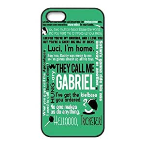 Funny SPN because Supernatural Munsch Quotes of Hard Phone Cover Case for iPhone 5,5S Cases the &hong hong customize
