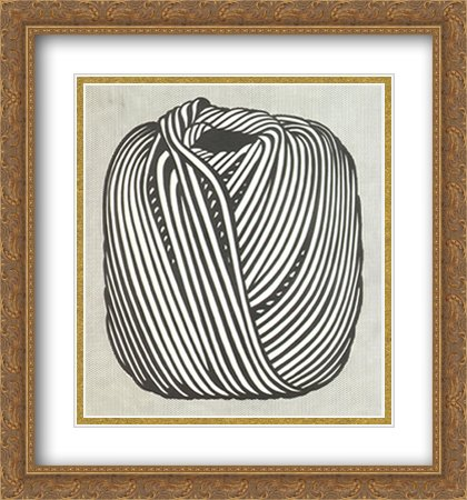 Ball of Twine, 1963 2X Matted 28x30 Large Gold Ornate Framed Art Print by Lichtenstein, Roy