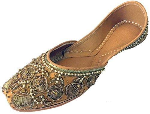 Women Step Punjabi Khussa Shoes Style Jutti Zari Mojari Work Copper Beaded N amp; rXCaxCE