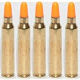 Ultimate Arms Gear ST Action Pro Pack Of 5 Inert .223 REM Remington 5.56 NATO M16 AR-15 M4 Rifle Orange Safety Trainer Cartridge Dummy Ammunition Ammo Shell Rounds with Brass Case