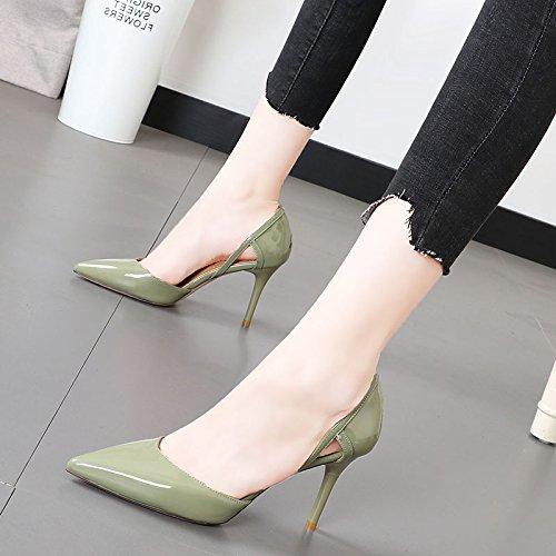 Xue Qiqi Schlanke elegante Schuh Licht - - - freiliegende Spitze des high-heel Schuhe pendeln Karriere Frauen Schuhe d723ff