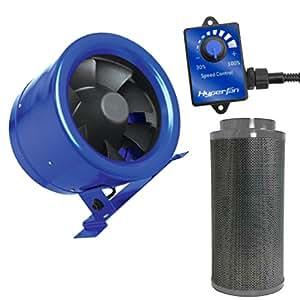 "Hyper Fan 8"" 710 CFM Digital Mixed Flow Fan with 750cfm Carbon Filter"