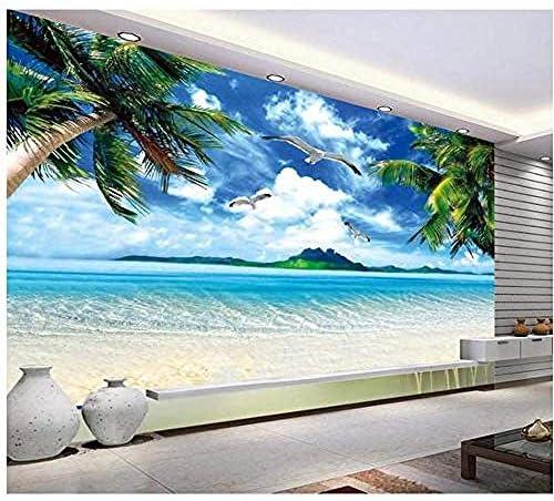 3D写真壁紙カスタム3D壁壁画壁紙地中海壁画Hdハワイアンビーチテレビ設定壁部屋の壁紙の装飾-450X300Cm