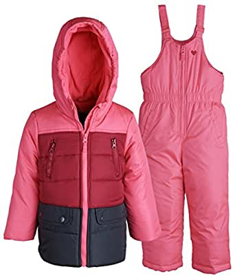 Amazon.com: OshKosh Baby Girls 2 Piece Snowsuit Set: Warm