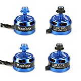 4X Racerstar Racing Edition 2205 BR2205 2600KV 2-4S Brushless Motor Dark Blue For 210 X 220 250 280 RC Drone