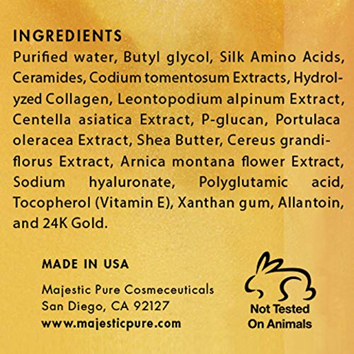 Majestic Pure Gold Facial Mask, Help Reduces the Appearances of Fine Lines and Wrinkles, Ancient Gold Face Mask Formula - 8.8 Oz