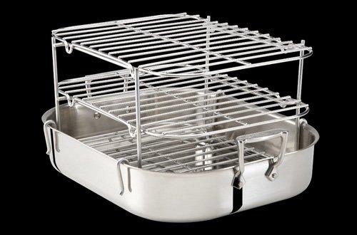 All-Clad Stainless Roti Pan with Multi-tier Rib (All Clad Roti Pan)