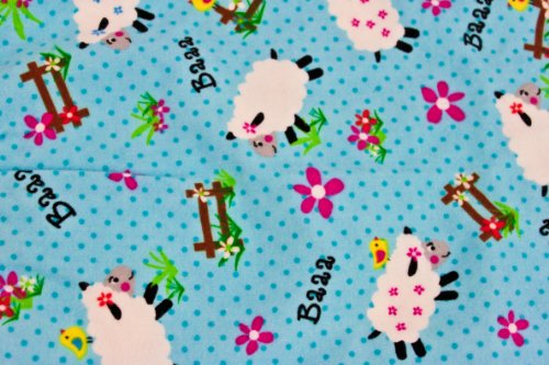 Warm Tradition Counting Sheep Cotton Flannel Hot Water Bottle Cover - COVER ONLY- Made in the USA