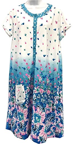 Lati Button Down Open Front House Gown - Sleepwear Gown - House Duster at  Amazon Women s Clothing store  a88cdc0e0