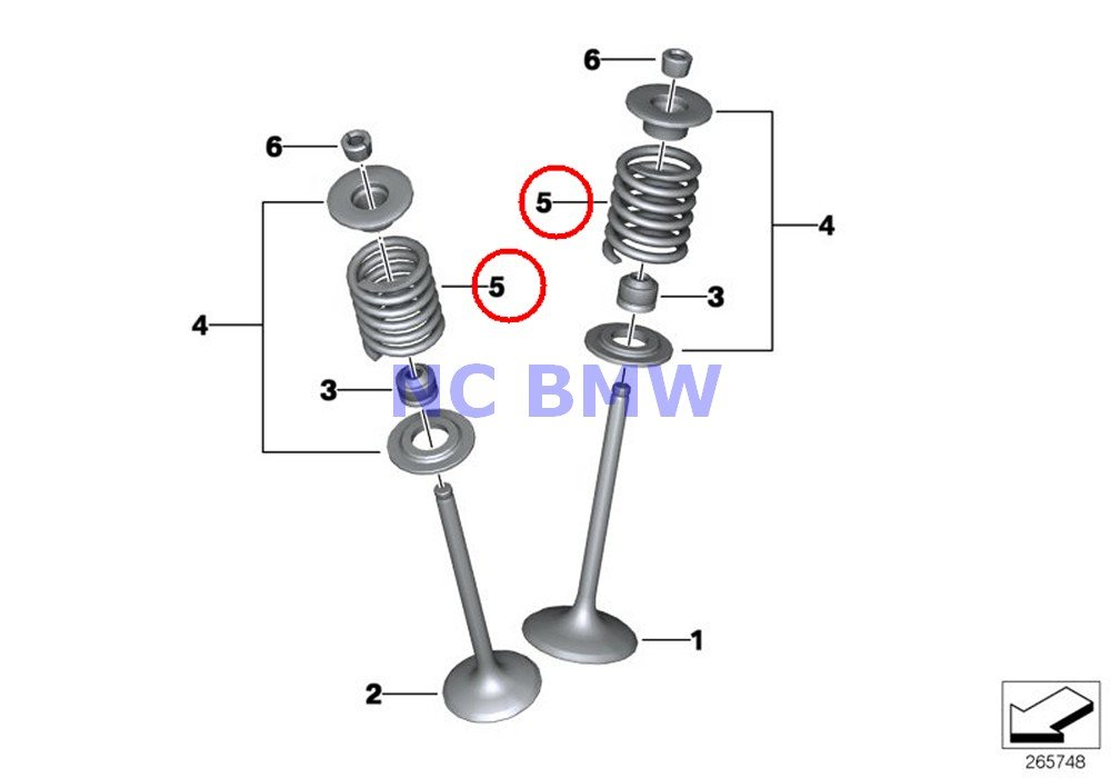 24 X BMW Genuine Motorcycle Timing Gear Intake Exhaust Valve Valve Spring A40 C600 Sport C650GT K1600GT K1600GTL K1600GTL Excl