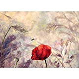Jigsaw Puzzles Red Flowers, 300/500/1000/1500/2000/3000 Pieces for Adults Kids, Large Puzzle Game Toys Gift (Size : 3000pieces)