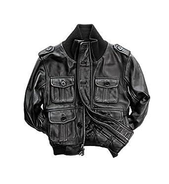 Amazon.com: Children's Genuine Lambskin Leather Bomber Jacket ...