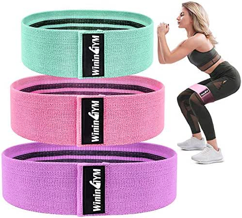 WininGYM Booty Bands Non Slip Resistance Bands for Legs and Butt Workout Bands Exercise Bands Glute Bands for Women Set 3 or Single