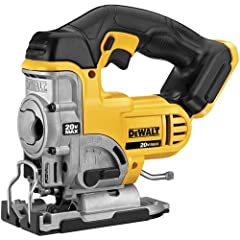 DEWALT DCS331B 20 Volt MAX Li Ion Jig Saw. It covers 3 Year Limited Warranty. All metal lever action keyless blade. Battery and charger sold separately.All metal keyless shoe bevel.