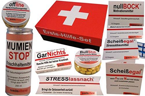 ERSTE-HILFE-Sanikasten-Witziges-Geschenkset-10-teilig
