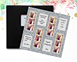 Silver Glitter Photo Booth Guest Book