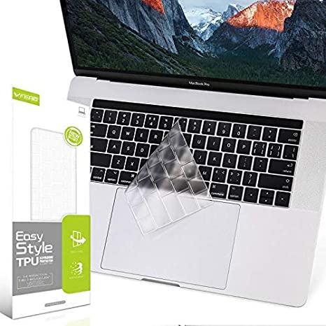 MacBook Pro 15 Case 2018 2017 2016 Release A1990//A1707,iCasso Rubber Coated Cover with Keyboard Cover Compatible Apple MacBook Pro 15 with Touch Bar and Touch ID Honeycomb
