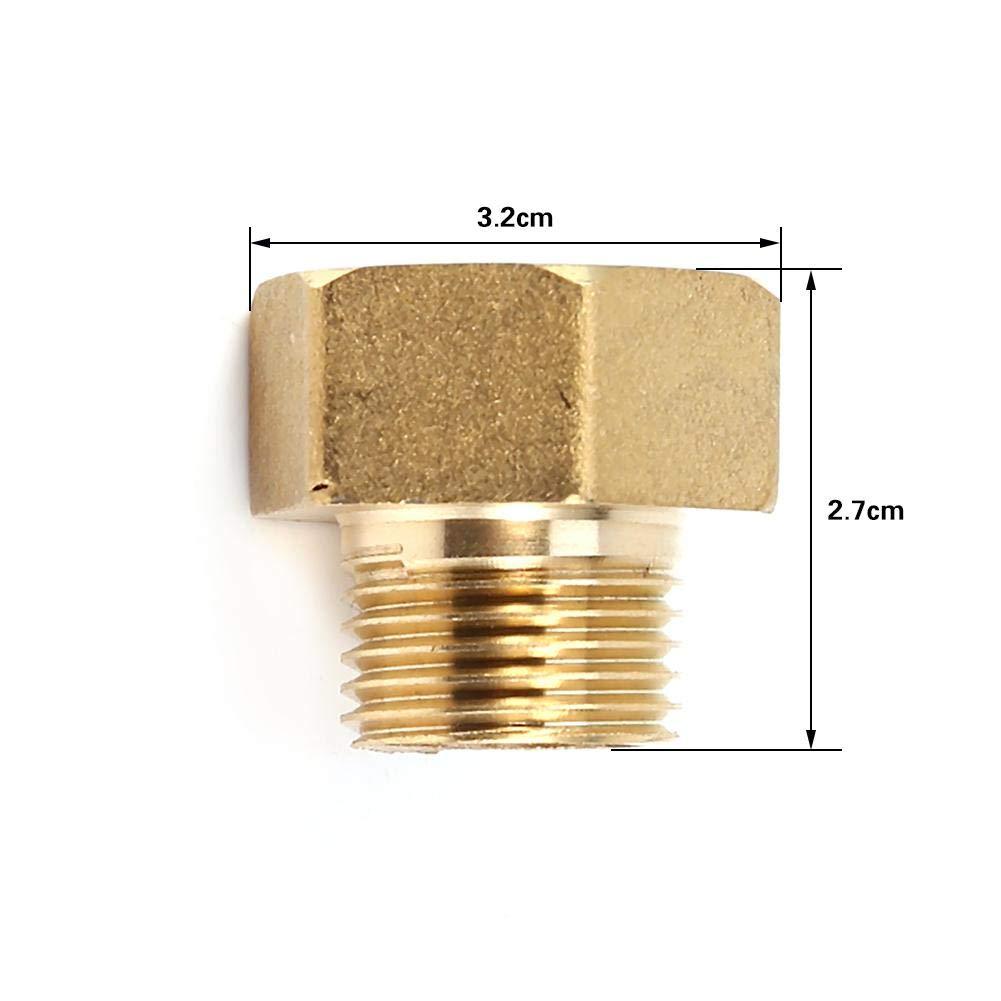 Raccord de tuyau deau en laiton /à connexion rapide Adaptateur r/éducteur /à bague hexagonale 1//2 BSPT m/âle et 3//4 BSPT femelle
