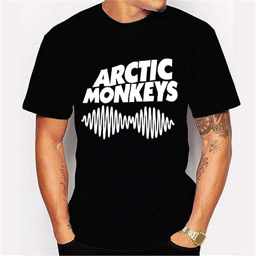 MIMIOOORE 2019 - Camiseta de Primavera, Cuello Redondo, para Hombre, de Verano, con impresión de Manga Corta, Camiseta Arctic Monkeys Negro Negro XXXL: Amazon.es: Ropa y accesorios
