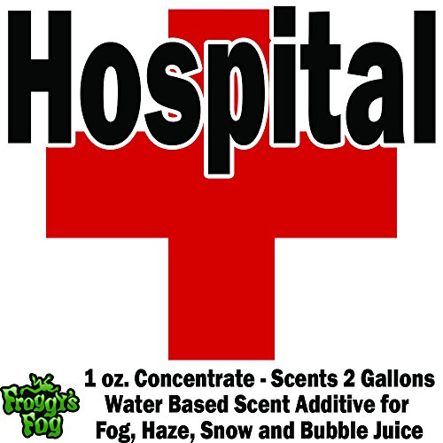 1 oz. HOSPITAL- Water Based Scent Additive for Fog, Haze, Snow & Bubble Juice - Scents 2 -