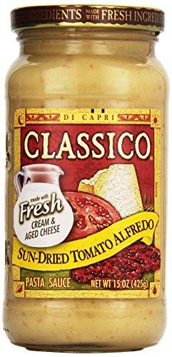 [Classico, Sun-Dried Tomato Alfredo Pasta Sauce, 15 oz] (Sun Dried Tomato Sauce)