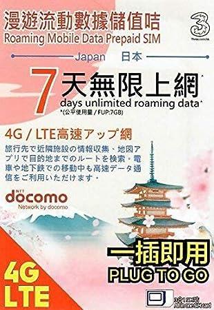 Japan Data Sim 7 Days Unlimited Data (Docomo Network)