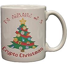 Bitcoin I'm Dreaming Of A Crypto Christmas 11 Ounce Ceramic Coffee Mug