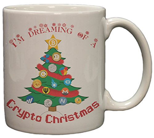 Bitcoin Im Dreaming Of A Crypto Christmas 11 Ounce Ceramic Coffee Mug