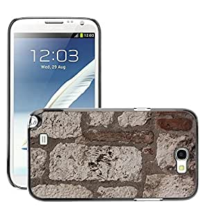 Hot Style Cell Phone PC Hard Case Cover // M00151856 Wall Limestone Brick Hard Whitish // Samsung Galaxy Note 2 II N7100
