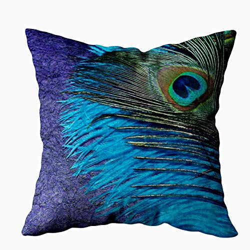 (Musesh purple and teal peacock Cushions Case Throw Pillow Cover For Sofa Home Bedding Decorative Pillowslip Gift Ideas Household Pillowcase Zippered Pillow Covers 16X16Inch)