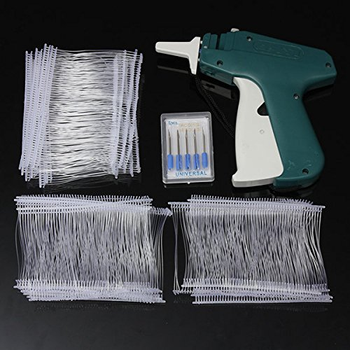 Wikor Tagging Gun for Clothing Clothes Labeler Tag Attacher Price Label Tag Gun Clothing Tag Gun with 5 Extra Steel Needles and 1000 White Barbs Fasteners 2