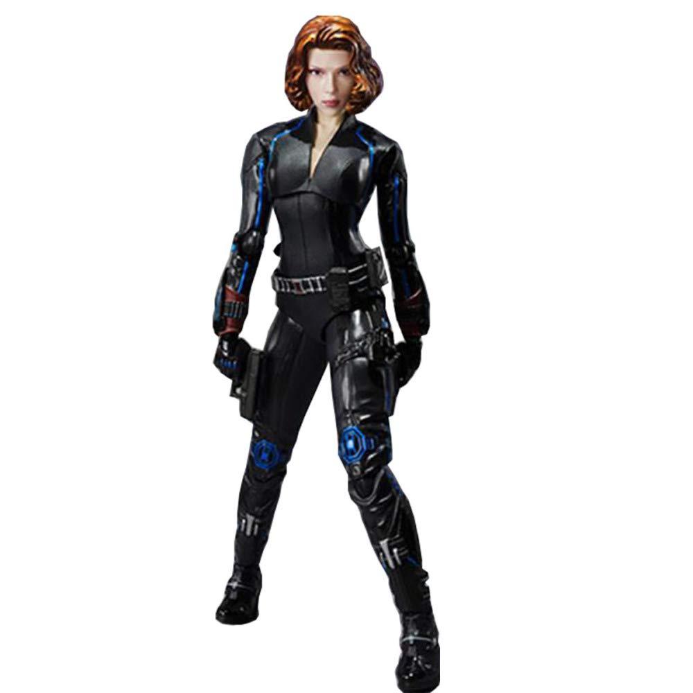 Artigianato Di Bambola Mobile Con Vedova Nera Raffigurante Statua In Scatola Modello Di Super Eroe The Avengers Altezza 15 Cm,nero-15cm