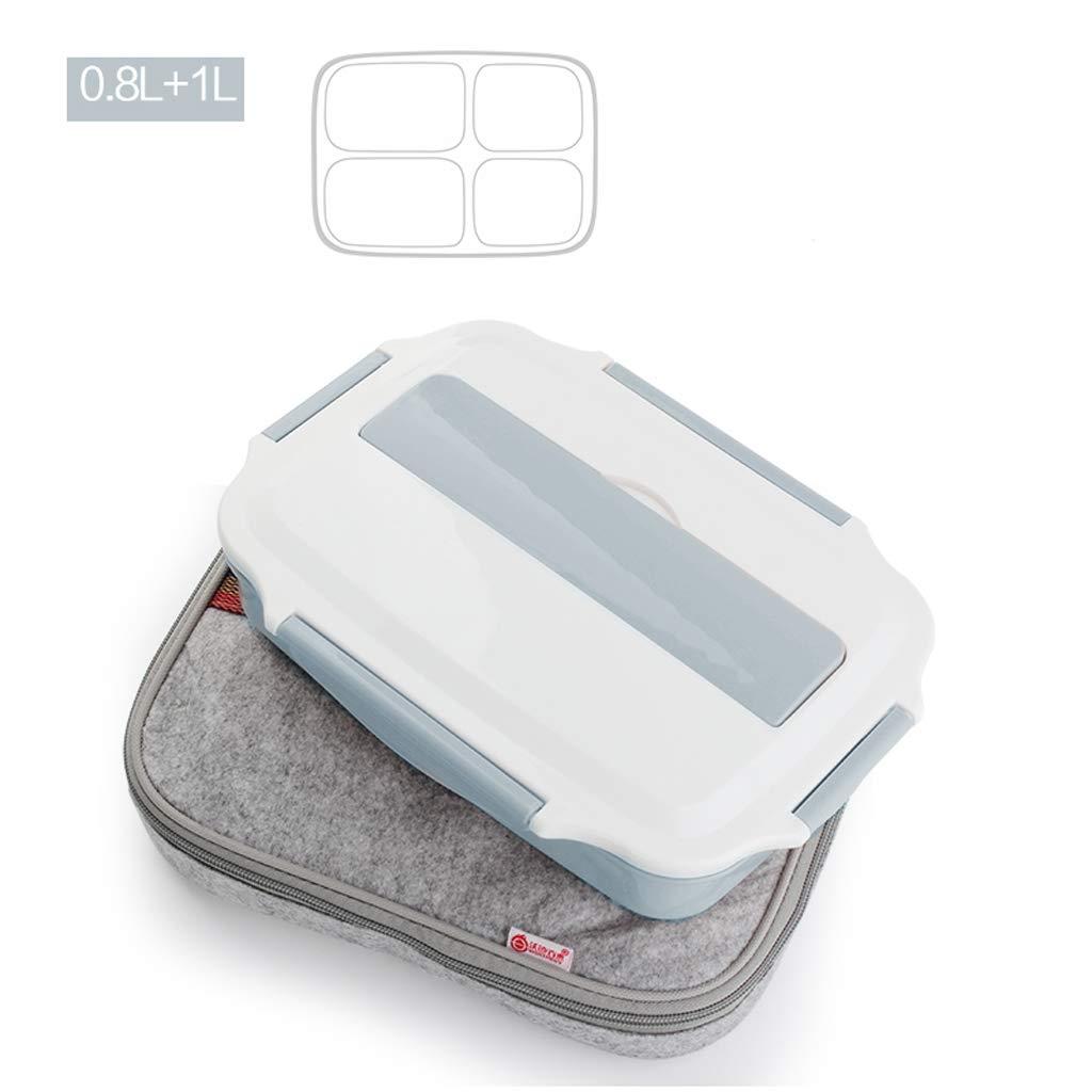 TY-Lunch-Boxen Isolierte Brotdose aus Edelstahl 304 Isolierte Brotdose mit großer Kapazität quadratische Brotdose (Farbe   A) B07L91DWG3 | Attraktives Aussehen