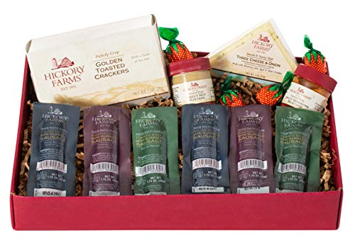 (Hickory Farms Deluxe Snack Size Sausage Sampler 1.18 lbs Gift Box)