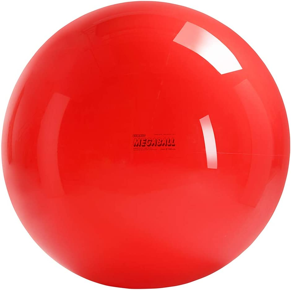 Gymnic Megaball Group Activity Fitness Ball, Red 180 cm