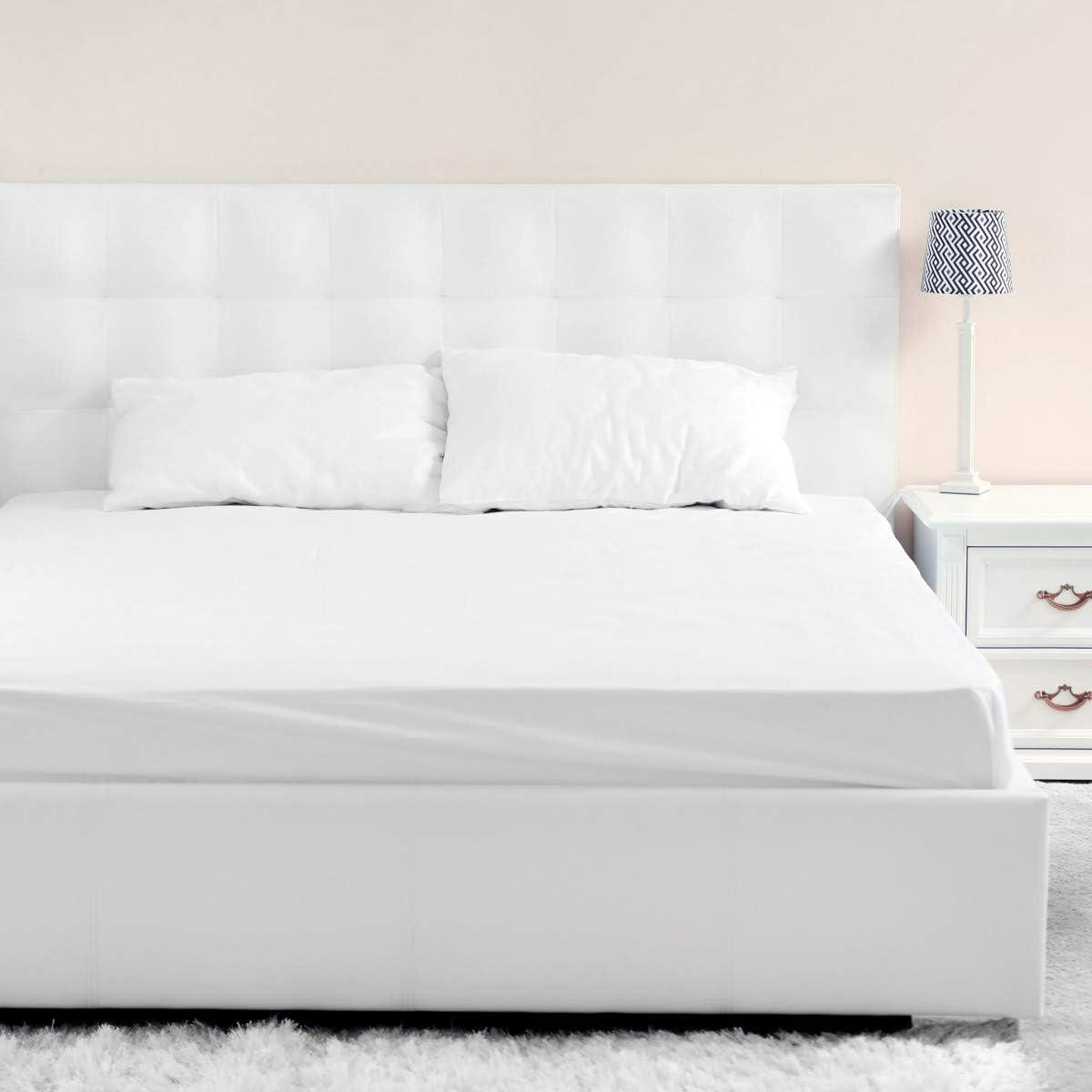 Terre de Nuit Drap Housse Jersey Blanc Bonnet 40 cm 140x190//200