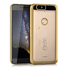 kwmobile Crystal TPU Silicone Case for Huawei Google Nexus 6P in gold transparent Design fairy