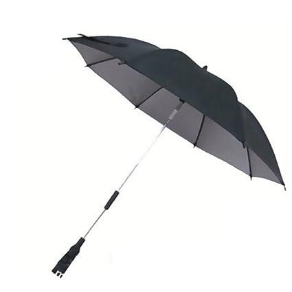 Paraguas plegable para cochecito de bebé, parasol infantil para cochecito de bebé negro negro Talla