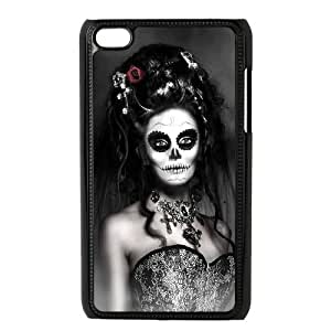 GGMMXO Sugar Skull Phone Case For Ipod Touch 4 [Pattern-1]