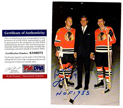 PSA/DNA 1970 Bobby Hull Hof 1983 Autographed Signed -Autographed Signed Blackhawks Postcard 6A96073 from Sports Collectibles Online