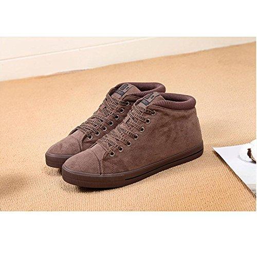 fría de invierno 42 de felpa caliente Calzado mujer goma de casuales Zapatos para brown 42 Fondo wSqaRHY