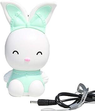 WDOIT Mini Ventilador de batería USB con diseño de Conejo de Dibujos Animados para el hogar, Oficina, Dormitorio, Estudio, etc.: Amazon.es: Electrónica