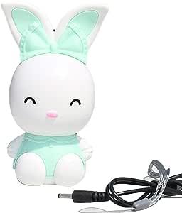 WDOIT Mini Ventilador de batería USB con diseño de Conejo de ...