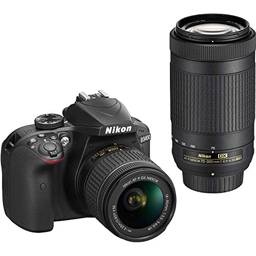 Nikon D3400 Digital SLR Camera & 18-55mm VR & 70-300mm DX AF-P Lenses - (Renewed)