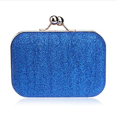 WZW Mujer Poliéster Formal / Casual / Evento/Fiesta / Boda / Oficina y Trabajo Bolso de Noche Rosa / Azul / Oro / Plata / Negro . silver blue
