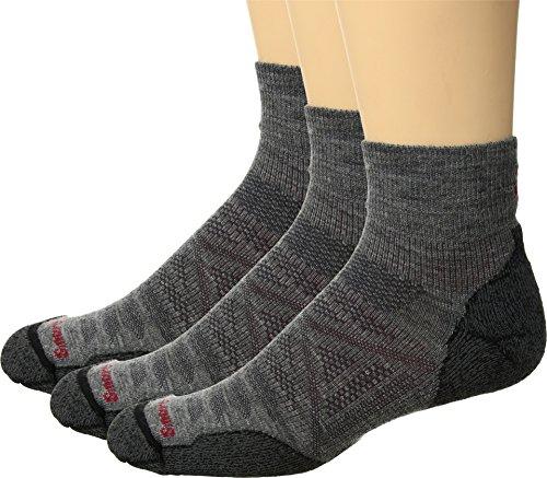 Smartwool Men's PhD Outdoor Light Mini 3-Pack Medium Grey Large - Outdoor Mens Socks