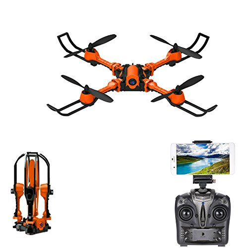 Rabing RC Drone Foldable Flight Path FPV VR Wifi RC Quadcopter 2.4GHz 6-Axis Gyro Remote Control Drone with 0.3MP Camera Drone