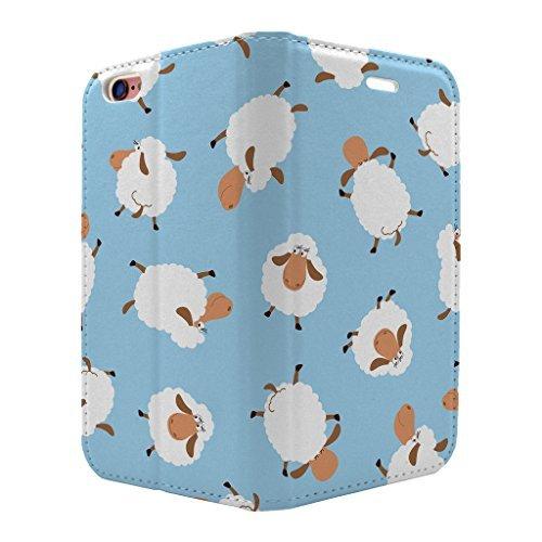 Schaf Spaß blau Muster Full Flip Case Hülle für Apple iPhone 5 - 5 S - 5SE - S1501